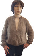 Damen Strickjacke Wolle Cardiff Curly 100% Cashmere