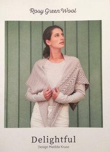Dreiecktuch Delightful Rosy Green Wool